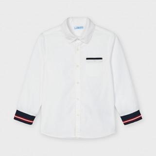 Біла сорочка з манжетами Mayoral