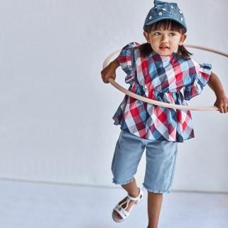 Джинсові подовжені шорти для дівчинки Mayoral