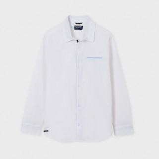 Біла сорочка з довгим рукавом Mayoral