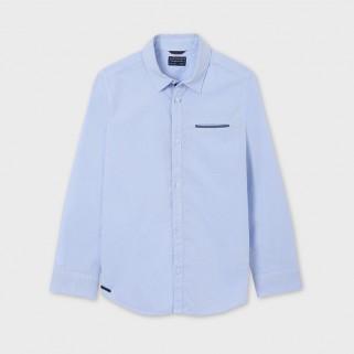 Блакитна сорочка з довгим рукавом Mayoral