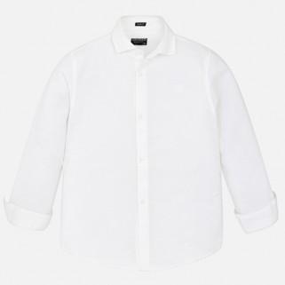 Льняная рубашка для мальчика с длинным рукавом