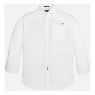 Белая рубашка для мальчика с длинным рукав Mayoral