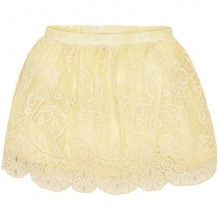Желтая гипюровая юбка Mayoral