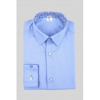 Голубая рубашка с длинным рукавом Giamo