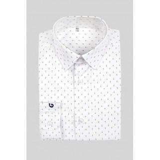 Белая рубашка с принтом Giamo