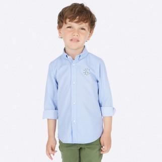 Голубая рубашка с длинным рукавом Mayoral