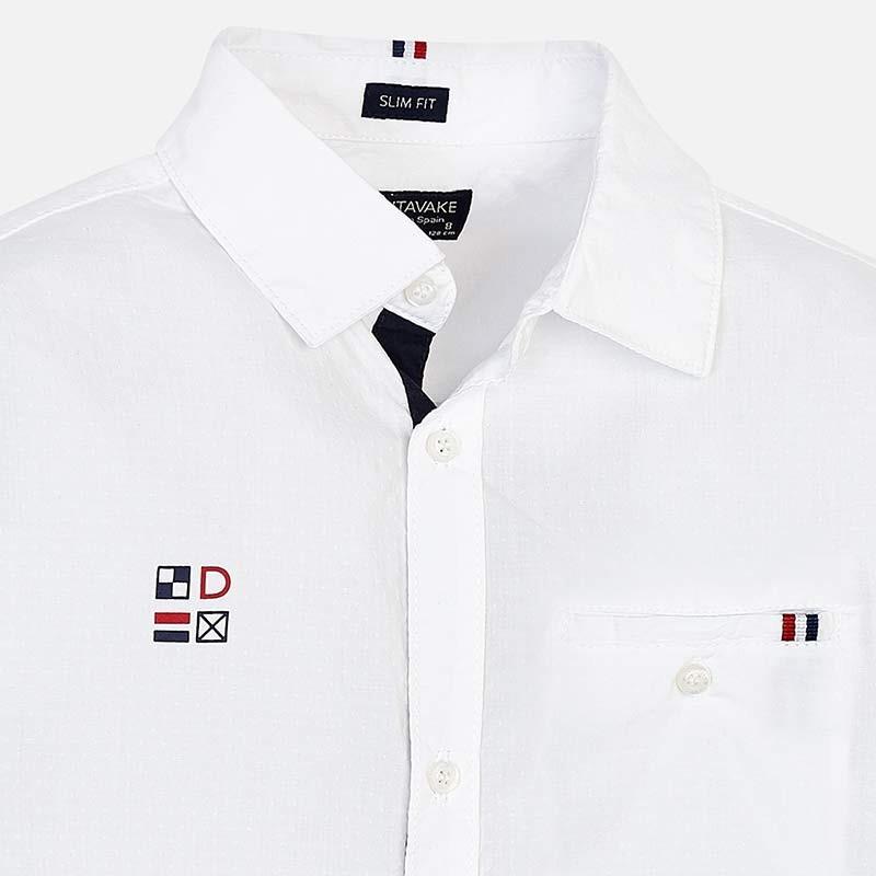Рубашка белая с длинным рукавом Mayoral
