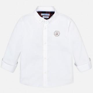 Белая рубашка с длинным рукавом для мальчика Mayoral