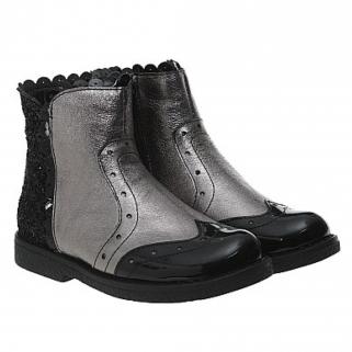 Демисезонные кожаные ботинки Bistfor